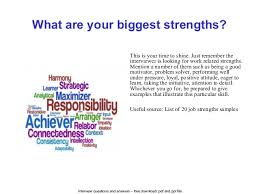 List Of Strengths For Interview Cascades Inc Interview Questions And Answers
