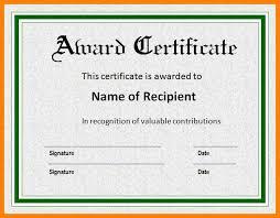Sample Awards Certificate Award Certificate Templates Certificate Template Downloads