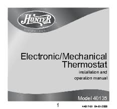thermostat users guides thermostat page  44017 01 manuals