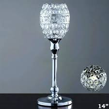 chandeliers table top chandelier candle holder decorative votive tealight crystal goblet wedding centerpiece tall lamps