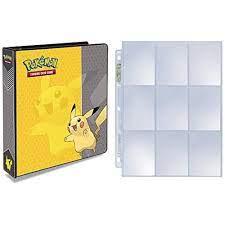 Ultra Pro Pokemon Pikachu 3-Ring Binder with 25 Platinum 9-Pocket Pages