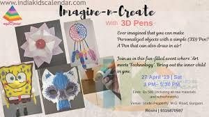 3d Paper Flower Calendar Imagine N Create With 3d Pens India Kids Calendar