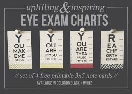 Free Printable Mini Eye Exam Chart Note Cards Project