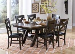 Dining Table With Storage Homelegance Rockville Dining Table W Storage Shelf Base In Dark