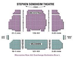 Roundabout Studio 54 Seating Chart Stephen Sondheim Theatre Seating Chart