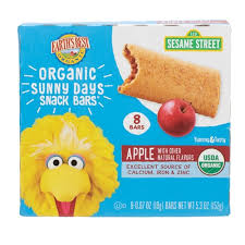 Earth's Best Sesame Street <b>Organic Sunny Days Snack</b> Bars Apple ...