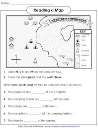 Free Second Grade Map Worksheets | Homeshealth.info