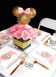 Pink And Black Minnie Mouse Decorations Minnie Mouse Theme First Birthday Part Girl Ideas Minnie Mouse