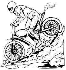 Coloriage Motocross Imprimer