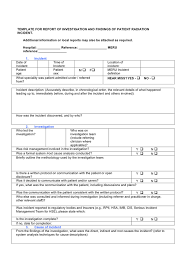 Radiation Incident Investigation Report Form In Word And Pdf