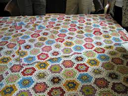 Introducing the Moda Honeycomb - The Jolly Jabber Quilting Blog & ... traditional Grandmother's garden quilt. Adamdwight.com