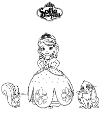 Sofia The First Whatnought And Clover Coloring Page Kleurplaten