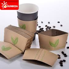 China Reusable Cup Wraps, Printed Kraft Coffee Cup Sleeve ...