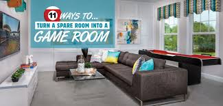 turn a spare room into a game room