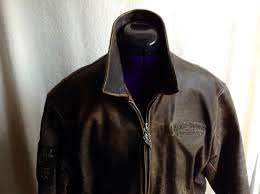 gorgeous brown leather harley davidson motorcycle vest size xl