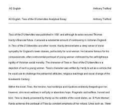 tess of the d urbervilles analytical essay a level english document image preview
