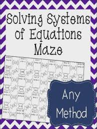 systems of equations maze all methods