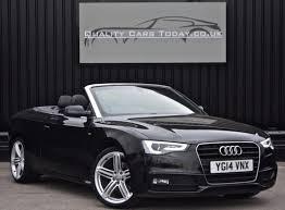 black audi a5 2014. 2014 audi a5 20 tdi 177ps s line special edition convertible automatic black