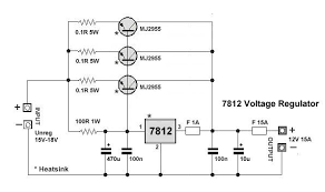make a simple volt power supply steps picture of 7812 voltage regulator jpg