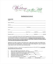 Free Wedding Planner Contract Templates Wedding Coordinator Contract Template Sample Agreements 9