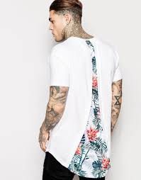 Crazy Shirts Models Siksilk Longline T Shirt With Curved Hem And Split Back