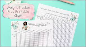 Weight Tracker Chart Printable Weight Tracking Chart Free Printable Worksheet Smart And Savvy Mom