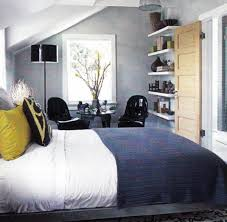 Blue Yellow Gray Bedroom