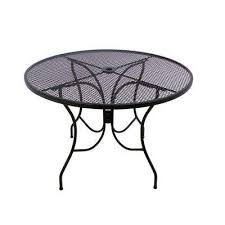 glenbrook 48 in black round patio dining table