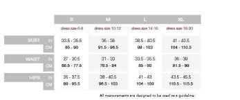 Spanx Size Chart Spanx Slimplicity Size Chart Shapewear Spanx Size Chart