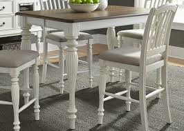 berland creek nutmeg and white counter height extendable gathering dining table main image