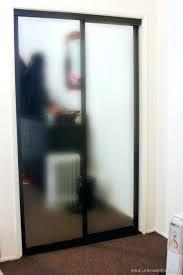 spray paint sliding glass door black spray painted closet doors