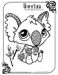 creative cuties koala printable coloring page