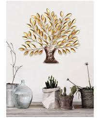 collectible india iron tree of life wall art hanging decor wall sculpture gold pack of