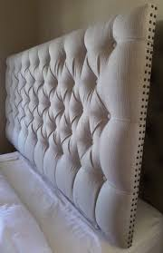 extra tall tufted headboard. Perfect Headboard King Sized Extra Thick Tall Tufted Upholstered Headboard Neutral Tan  Taupe Nail Head Trim Custom Wall Mounted Throughout Extra Tall Tufted Headboard