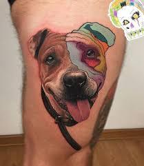 Pop Art Style American Staffordshire Terrier Portrait