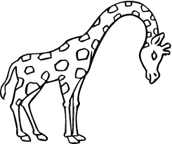 Small Picture Giraffe coloring page Animals Town animals color sheet
