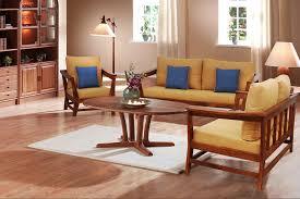 Sheesham Bedroom Furniture Canvas 3 2 1 Seater Sheesham Wood Mustard Fabric Wooden Sofa