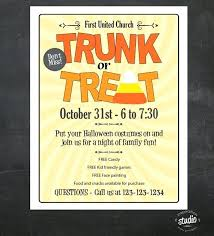 Free Printable Event Flyer Templates Trunk Or Treat Event Flyer By Template Free Printable