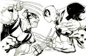 Small Picture Cool Drawings Of Deadpool Vs WolverineDrawingsPrintable Coloring