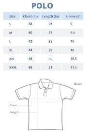 Polo Size Chart Sizing Chart Wear Your Opinion Wyo In