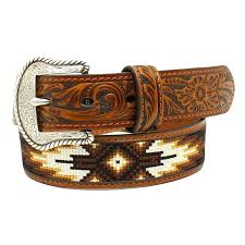 beaded leather belts with name