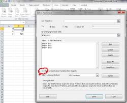unselect the check box make unconstrained variables non negative and solve