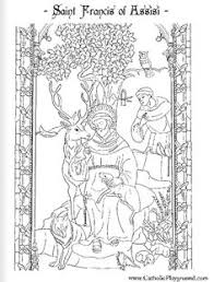 Small Picture St Francis of Assisi Catholic coloring page printable for