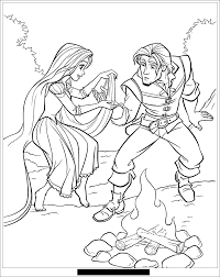 Disney Coloriages Raiponce Page 3