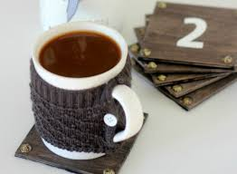 diy wooden coasters view from the fridge