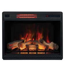 28 in ventless infrared electric fireplace insert with safer plug