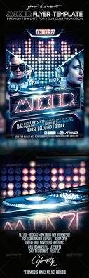 mixer flyer template by yaniv k graphicriver mixer flyer template clubs parties events