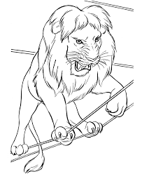 Small Picture Circus Animal Coloring Pages Printable Performing Circus Lion