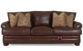 montezuma leather stationary sofa by