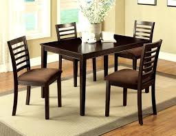 5 seater dining table 5 espresso wood dining set table chairs padded microfiber seat 5 seater 5 seater dining table